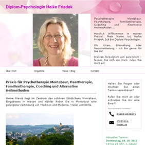 Webdesign für Diplom Psychologin Heike Friedek