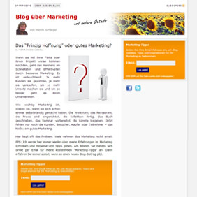 Webdesign für New-Marketing-Blog